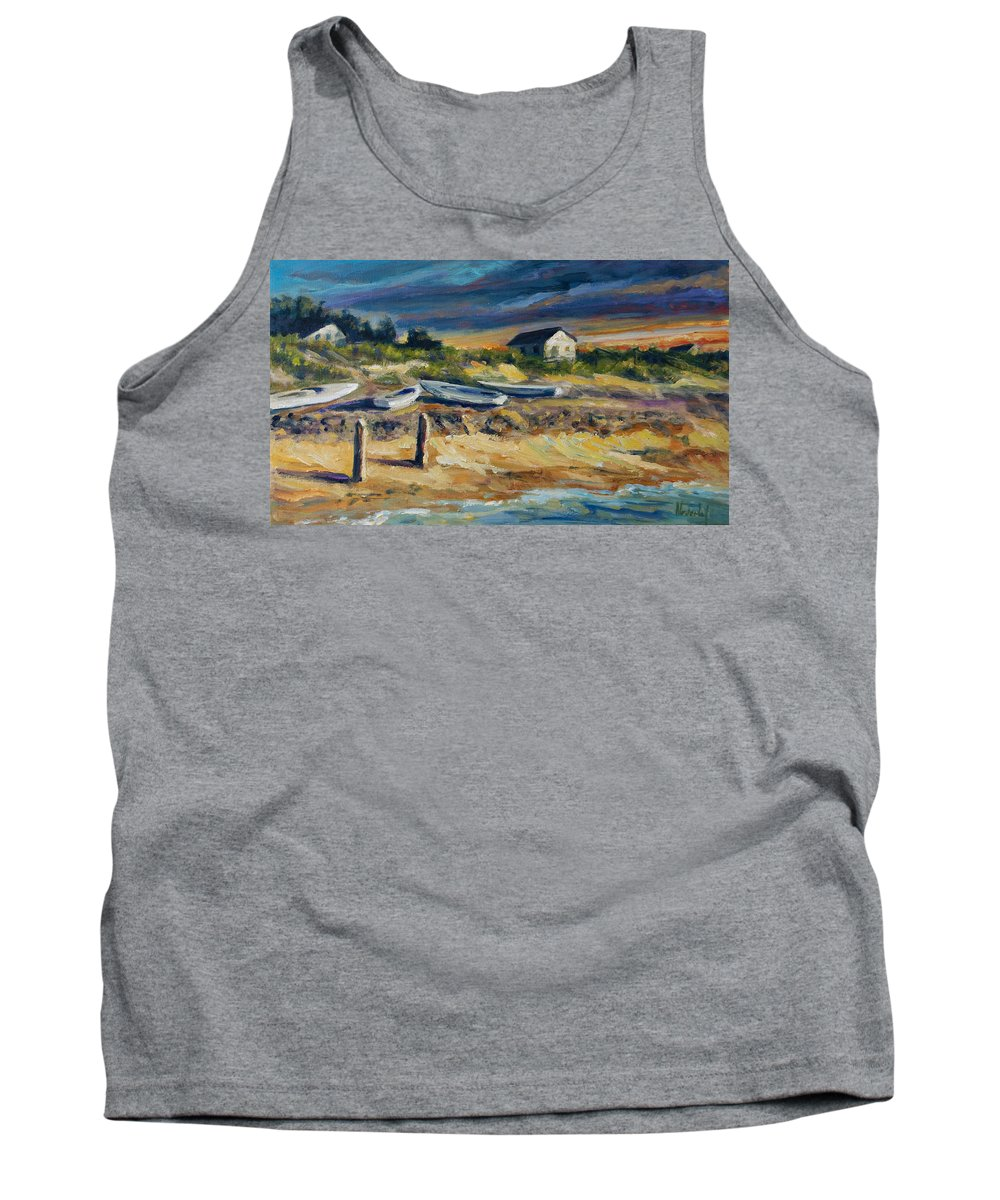 Stormy Clouds Tank Top featuring the painting Nantucket by Rick Nederlof