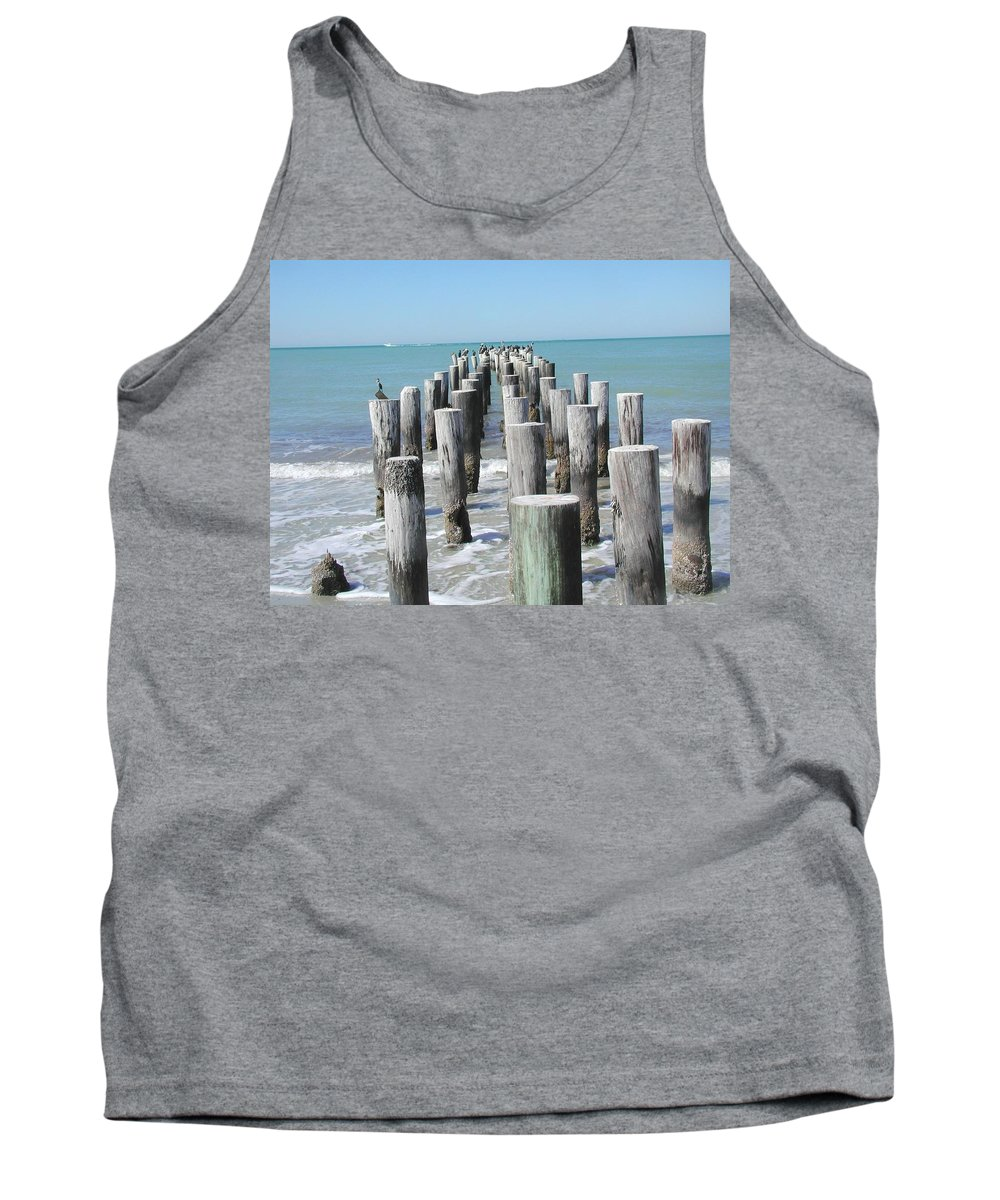 Ocean Tank Top featuring the photograph Naples Pier by Tom Reynen