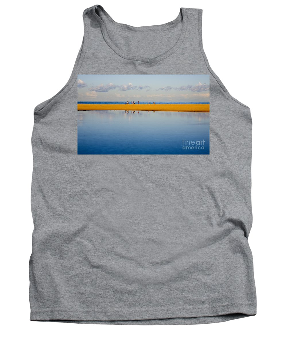 Dunes Lowry Sand Sky Reflection Sun Lifestyle Narrabeen Australia Tank Top featuring the photograph Narrabeen Dunes by Sheila Smart Fine Art Photography