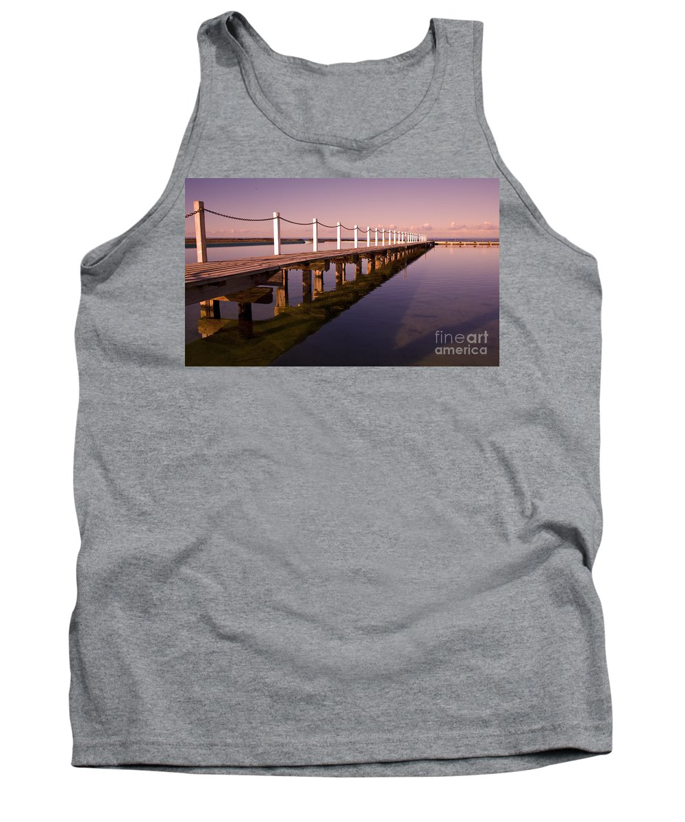 Narrabeen Sydney Sunrise Wharf Walkway Tank Top featuring the photograph Narrabeen Sunrise by Sheila Smart Fine Art Photography
