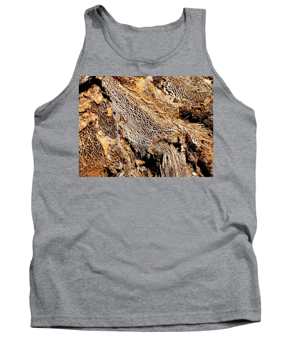 Texture Tank Top featuring the photograph Natural Textural Abstract by Wayne Potrafka