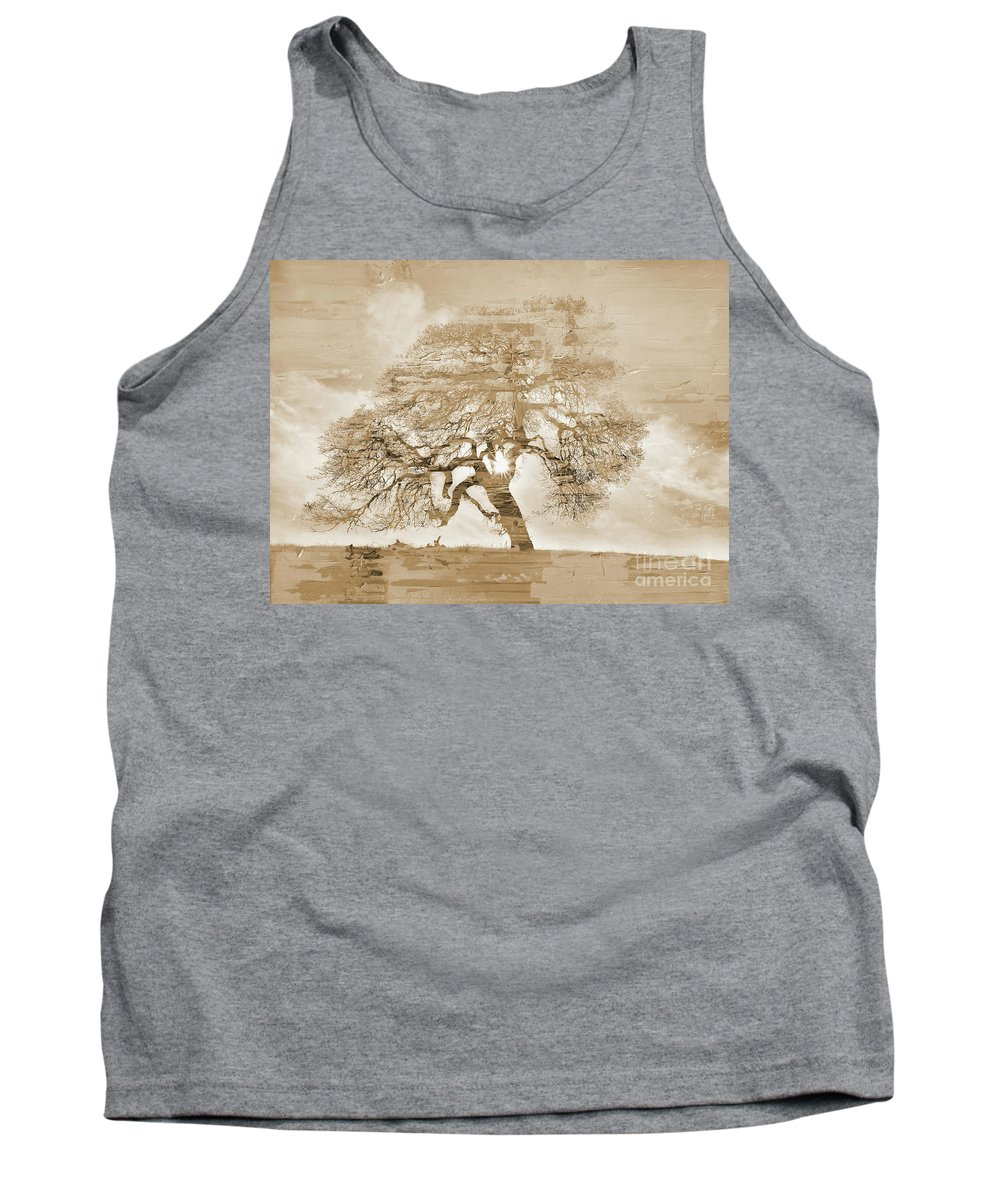Painting Tank Top featuring the painting Natural Tree by Gull G