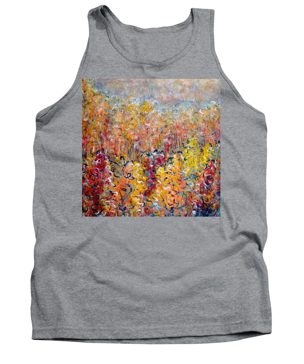 Autumn Tank Top featuring the painting Nature by Natalie Holland