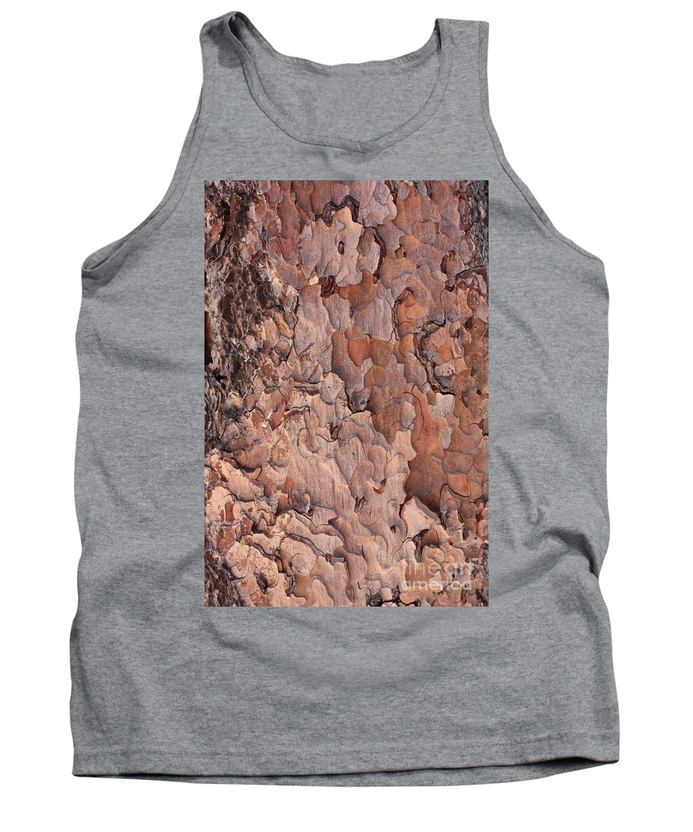 Bark Tank Top featuring the photograph Nature Puzzle by Carol Groenen
