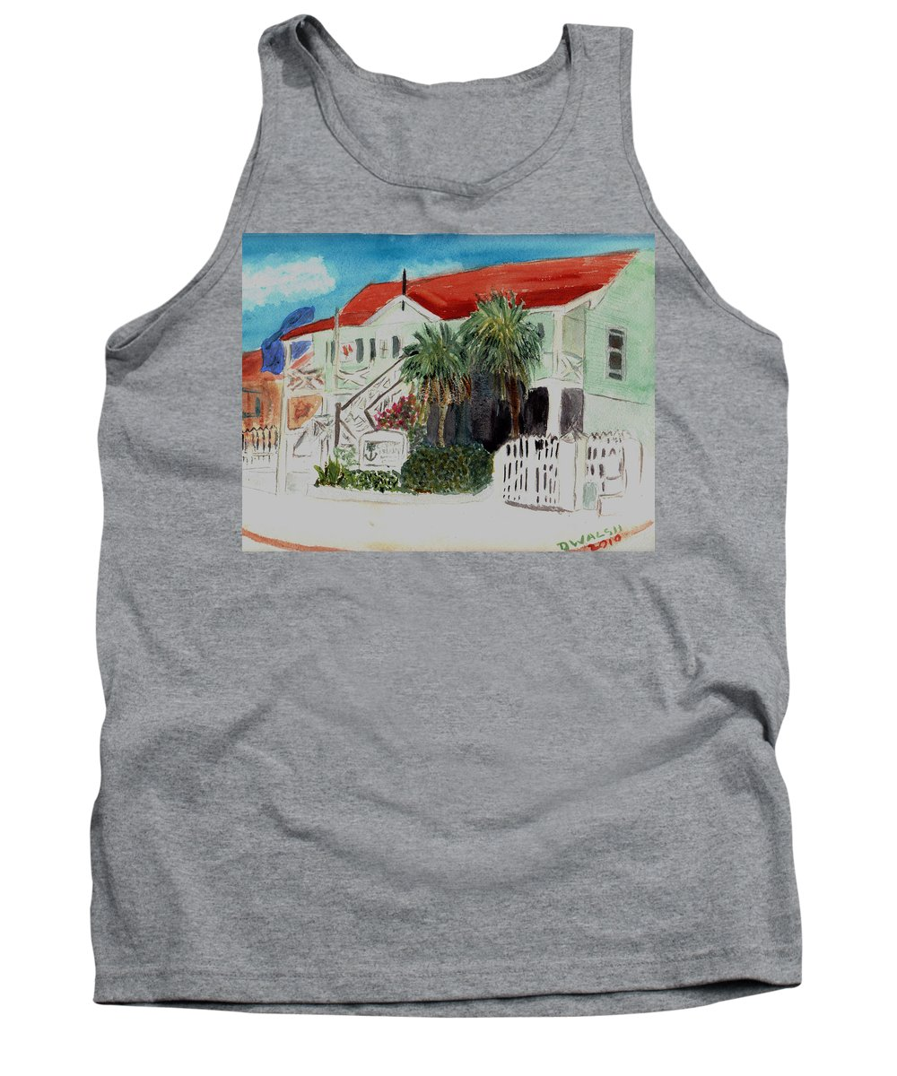 Nautical Tank Top featuring the painting Nautical Museum Georgetown by Donna Walsh