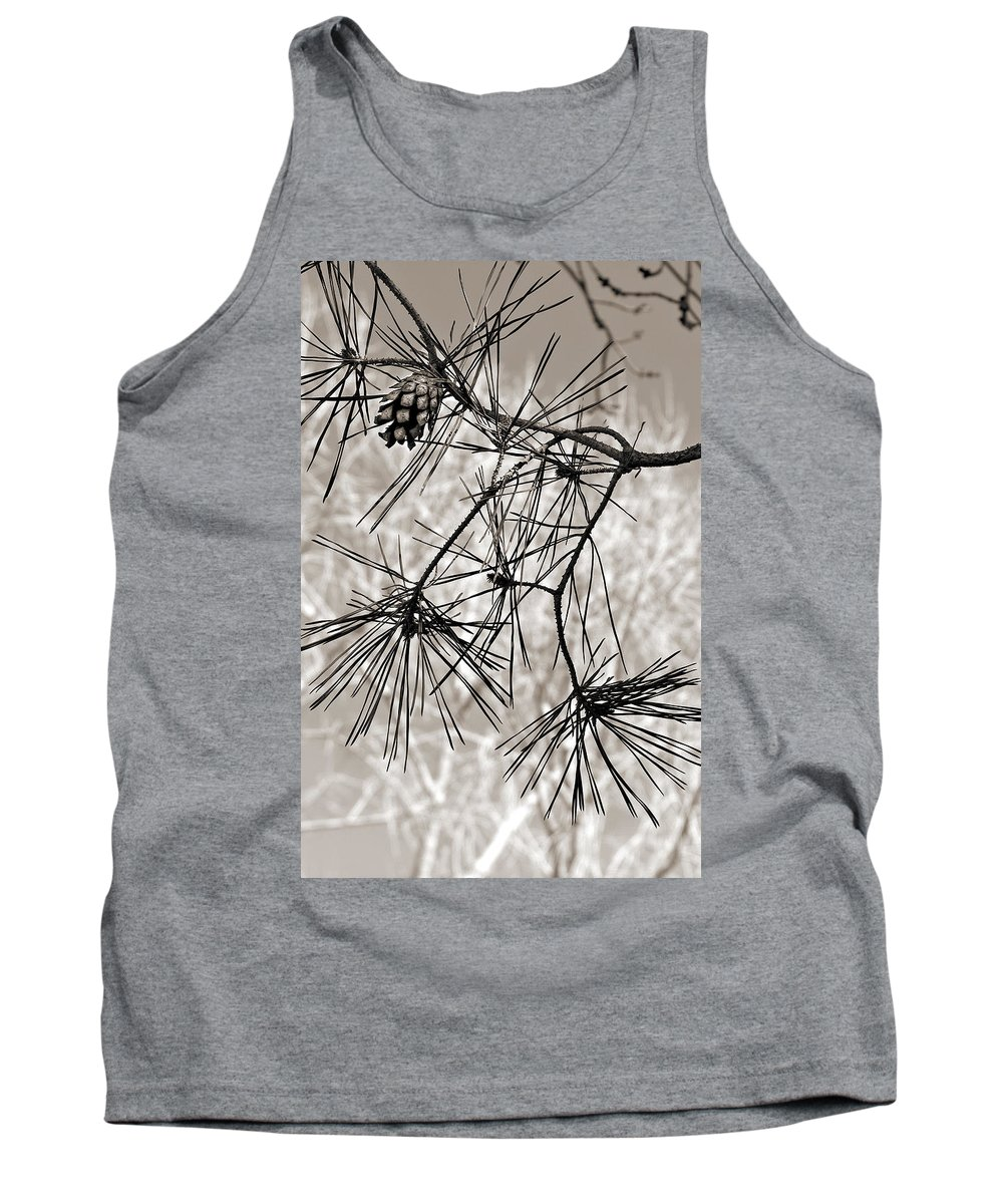 Tree Tank Top featuring the photograph Needles Everywhere by Marilyn Hunt