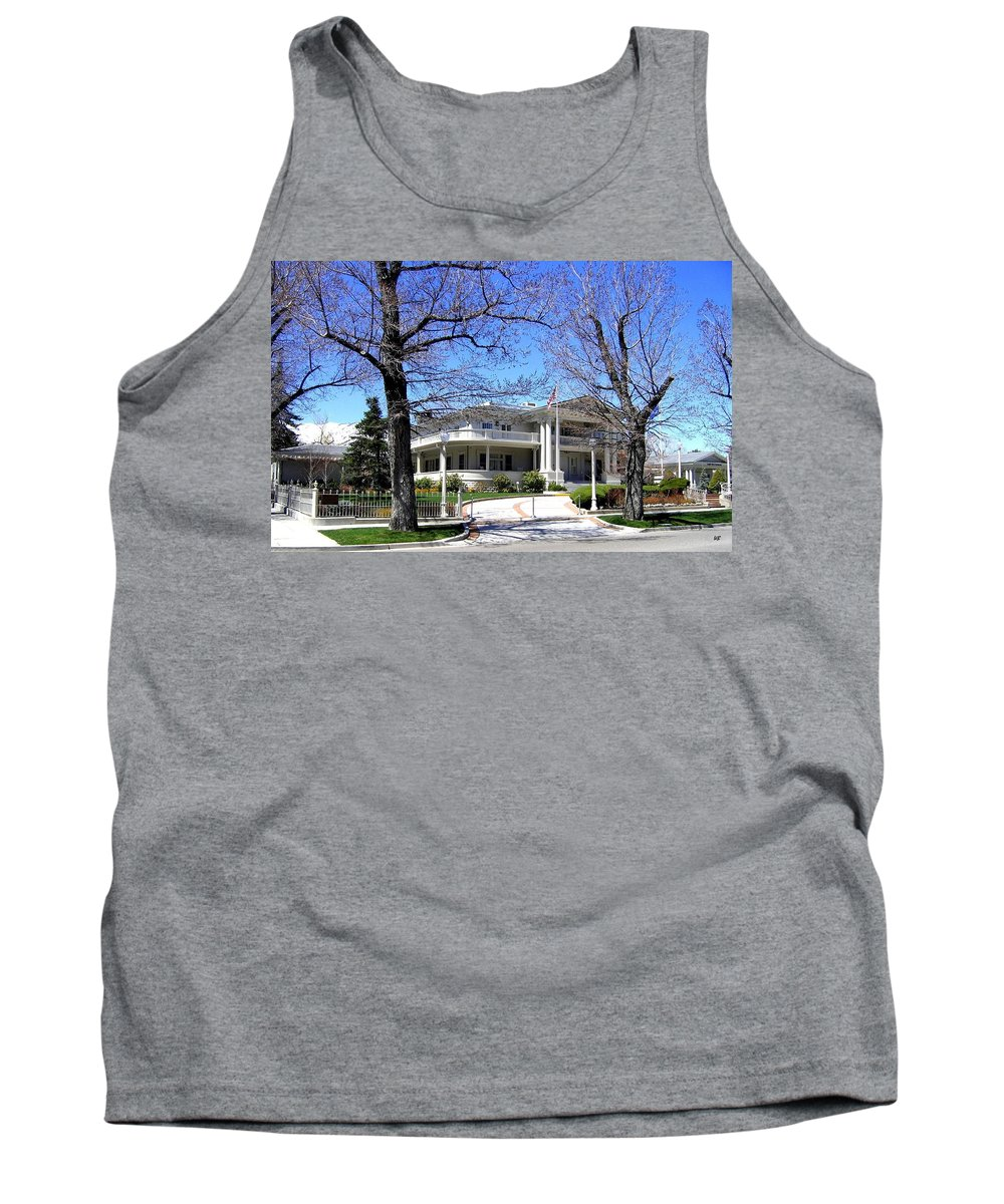 Nevada Tank Top featuring the photograph Nevada Governors Residence by Will Borden