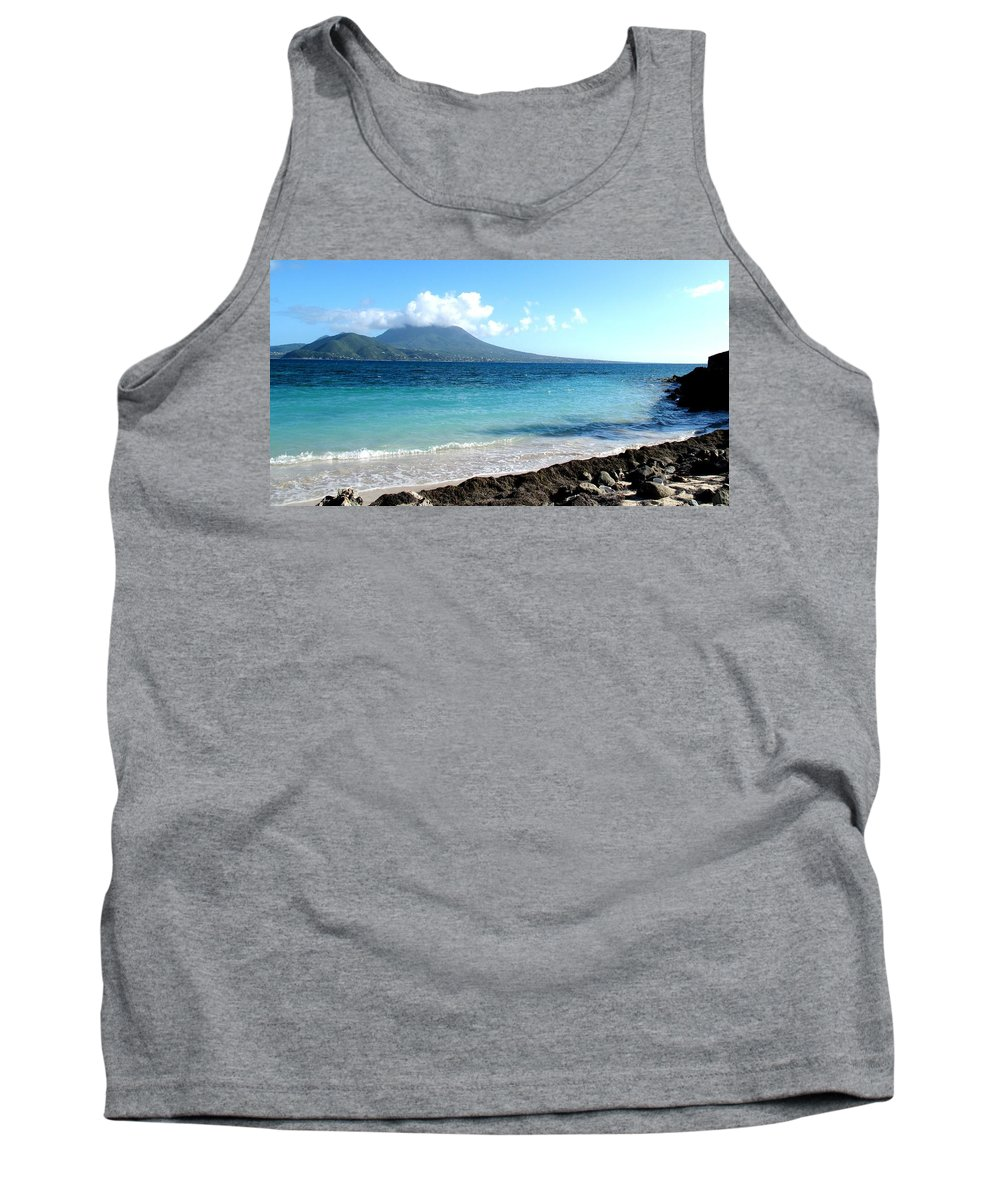 Nevis Tank Top featuring the photograph Nevis Across The Channel by Ian MacDonald