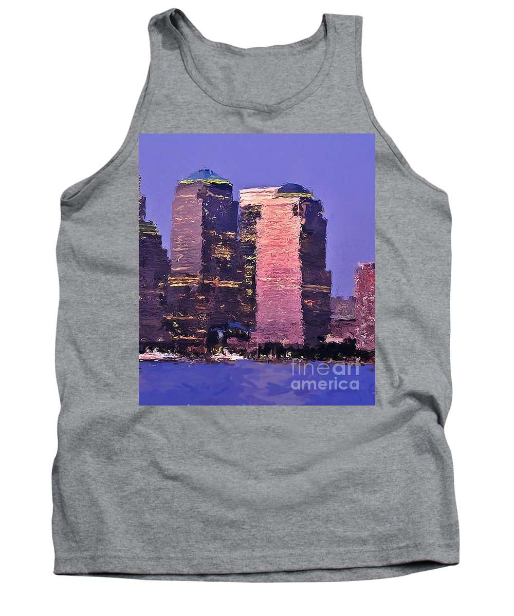 Abstract Expressionism Tank Top featuring the photograph New York Skyline by Henry J Yasses