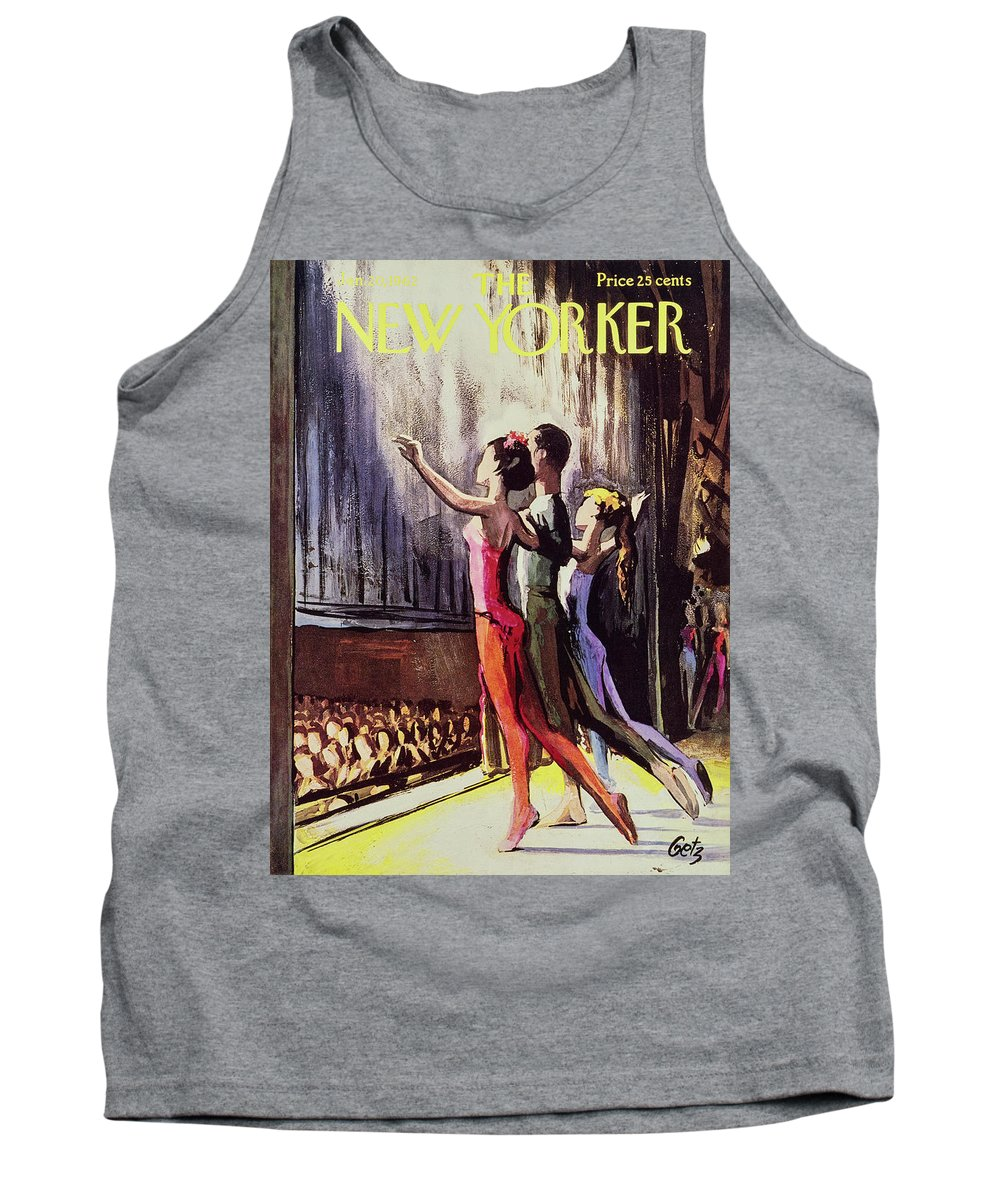 Illustration Tank Top featuring the painting New Yorker January 20 1962 by Arthur Getz