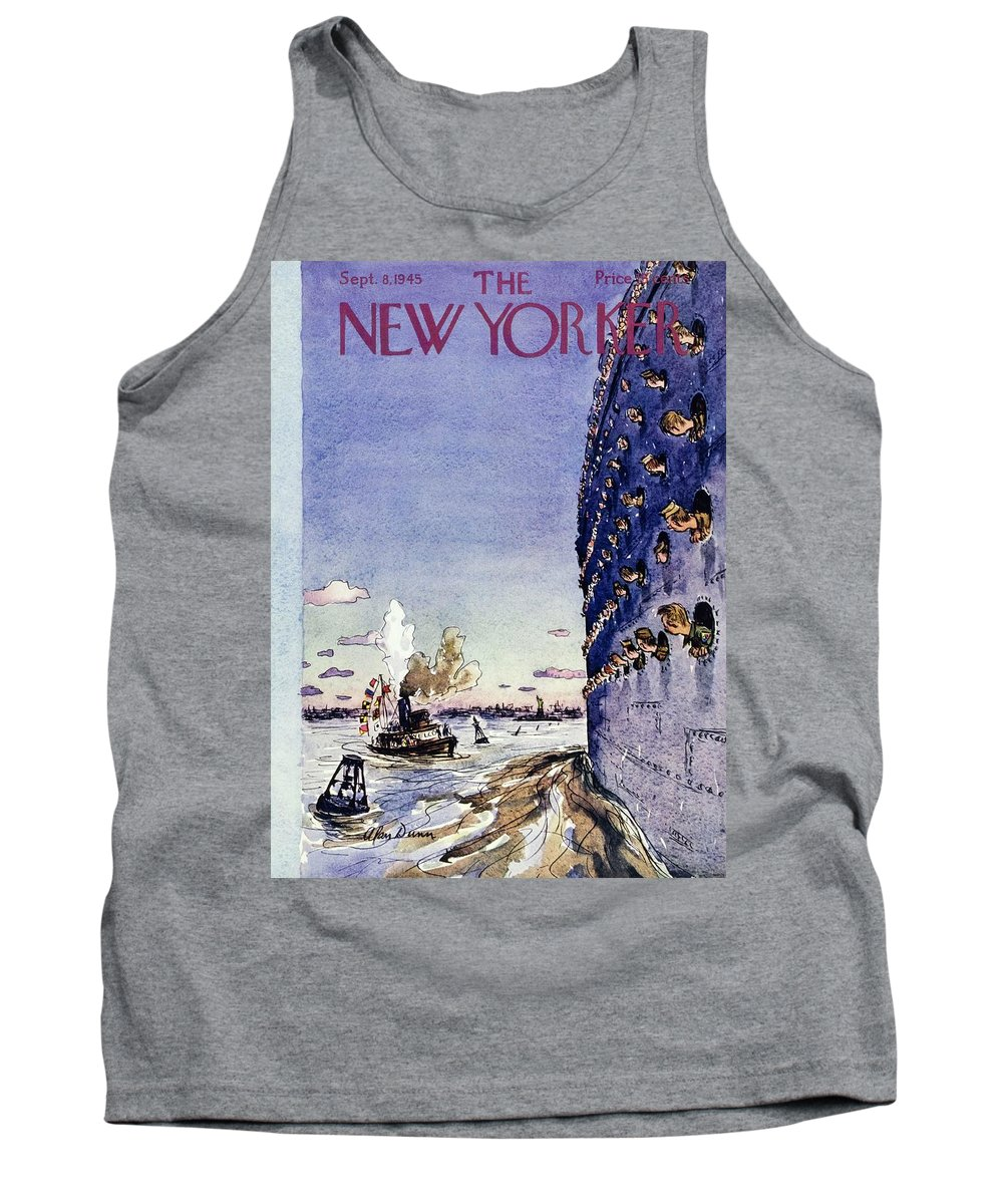 War Tank Top featuring the painting New Yorker September 8 1945 by Alan Dunn