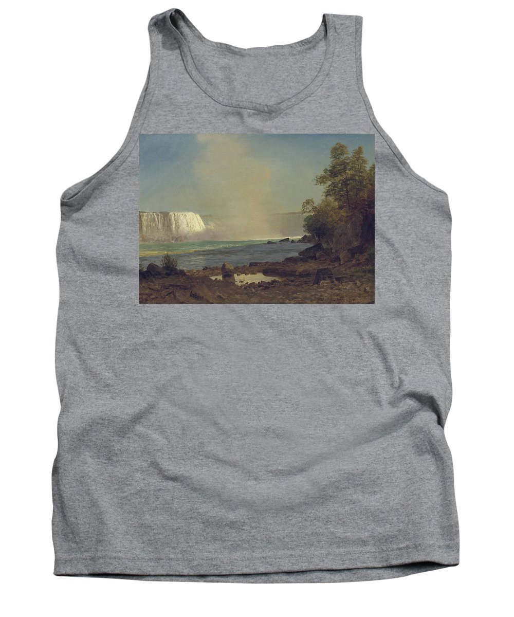 Waterfall; American; Canadian; Landscape; Natural; Phenomenon Tank Top featuring the painting Niagara Falls by Albert Bierstadt