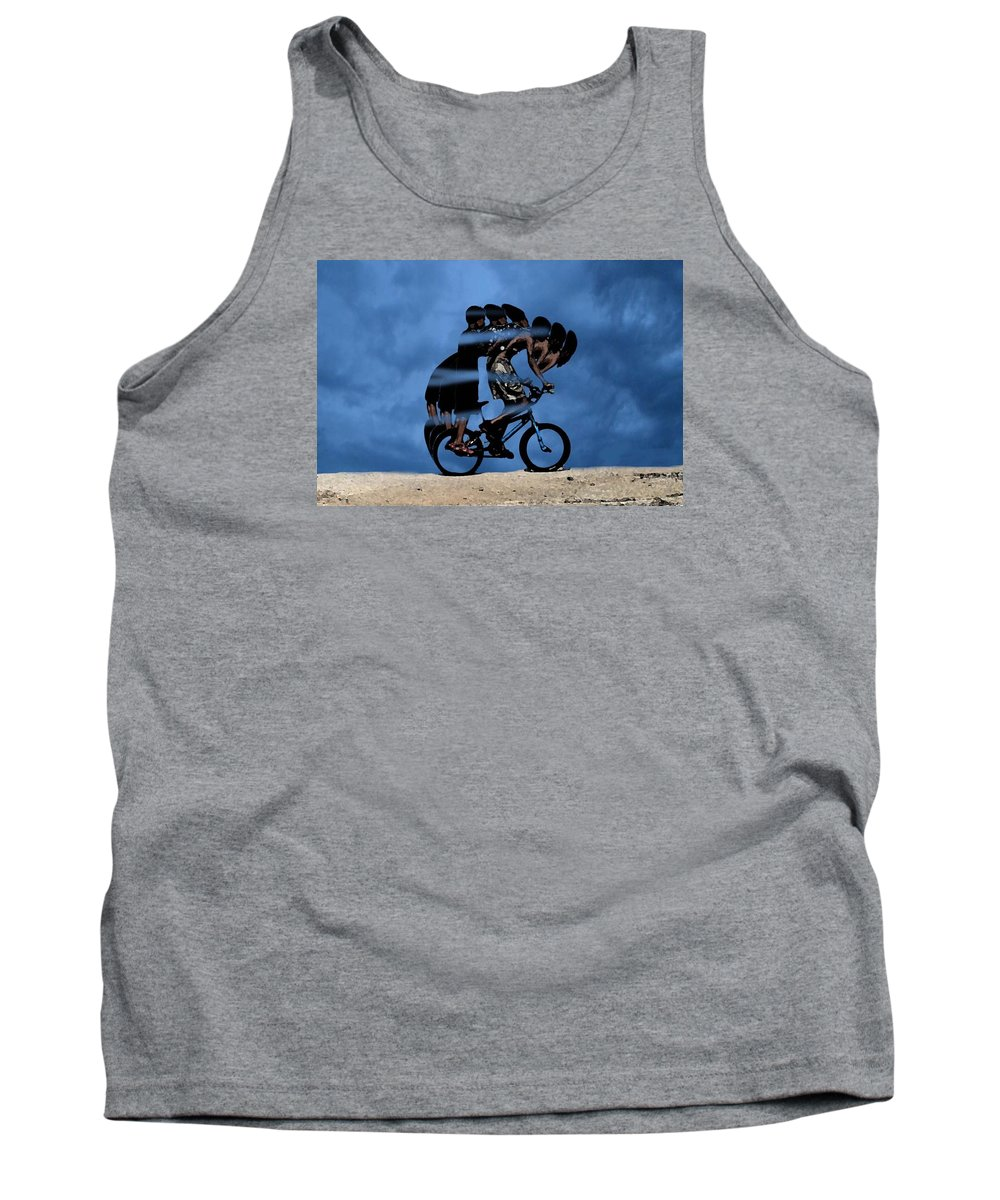 Bike Tank Top featuring the digital art Night Rider by Cleotha Williams