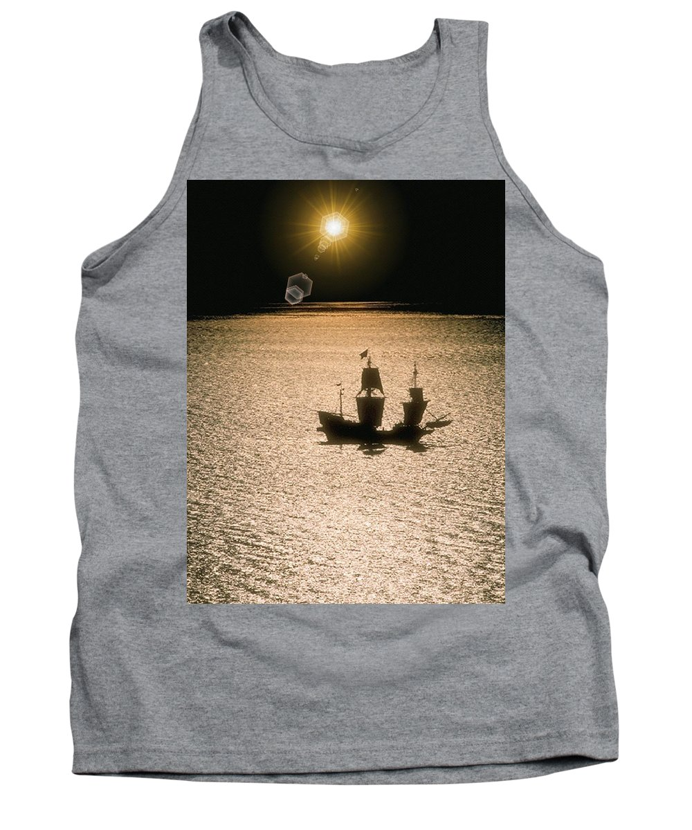 Sail Tank Top featuring the photograph Night Sail by Tim Allen