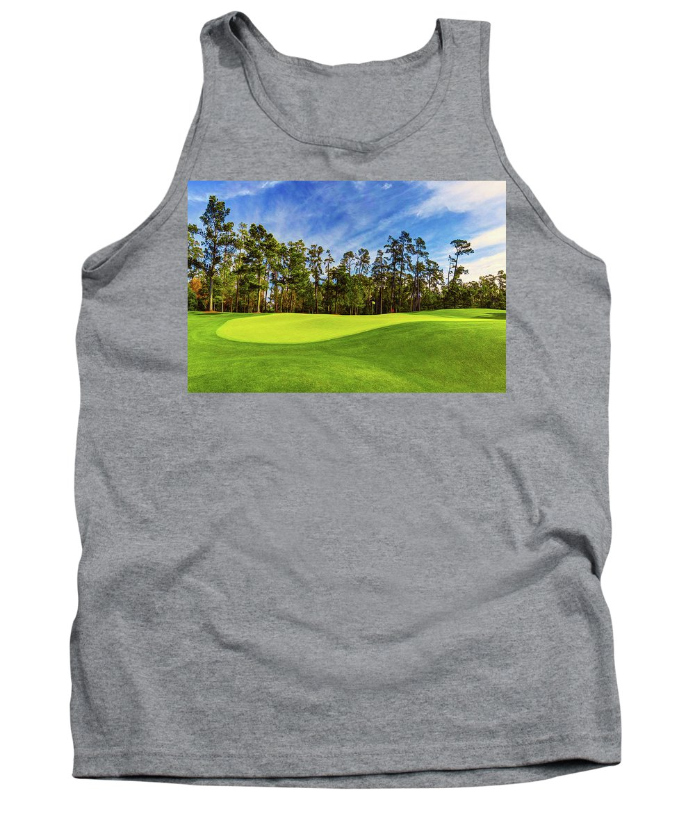 Home Art Tank Top featuring the digital art No. 14 Chinese Fir 440 Yards Par 4 by Don Kuing