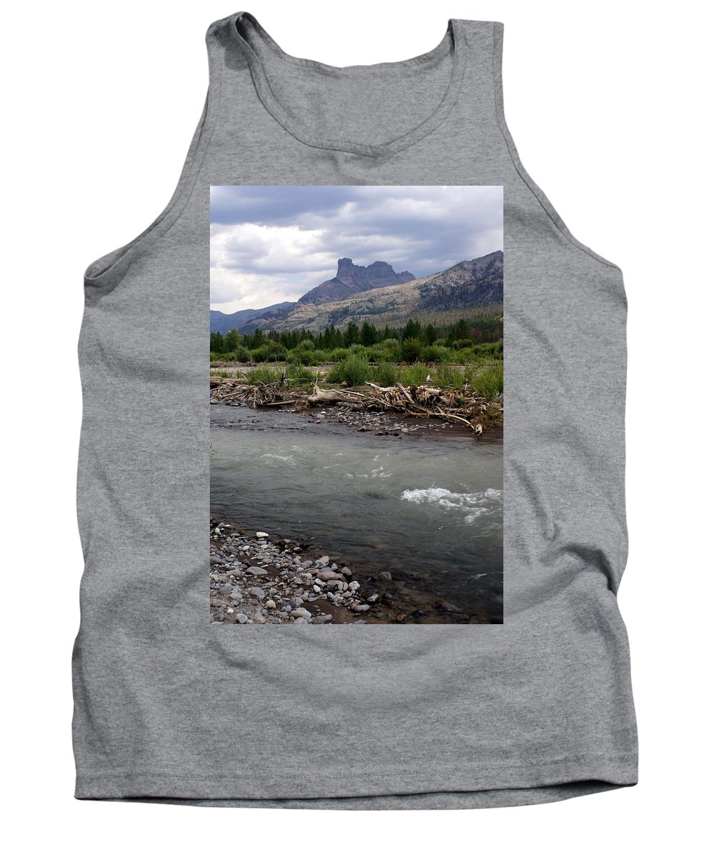 Rivers Tank Top featuring the photograph North Of Dubois Wy by Marty Koch