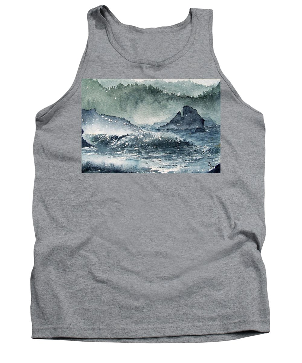 Ocean Tank Top featuring the painting Northern California Coast by Gale Cochran-Smith
