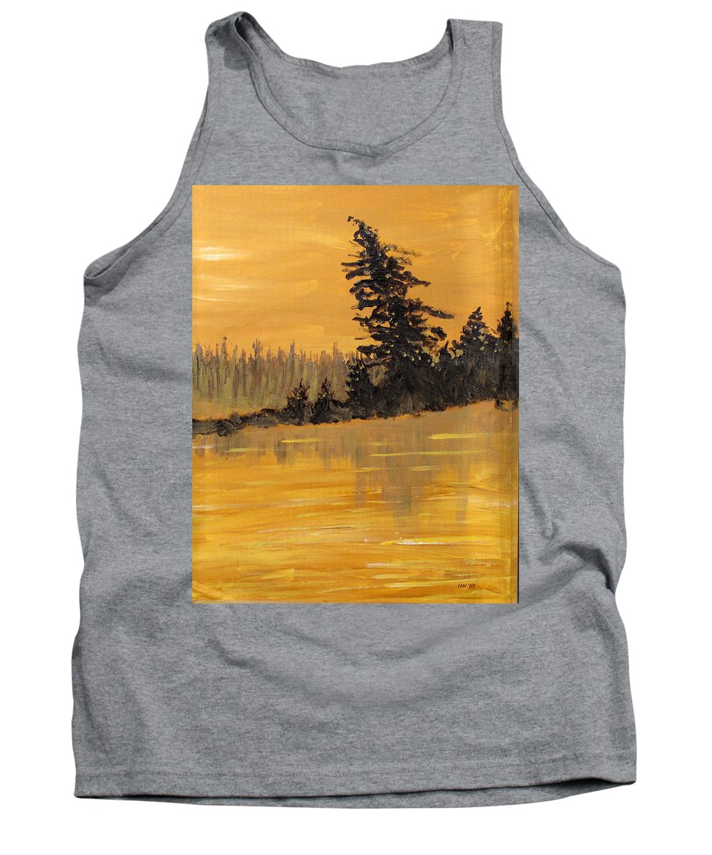 Northern Ontario Tank Top featuring the painting Northern Ontario Three by Ian MacDonald