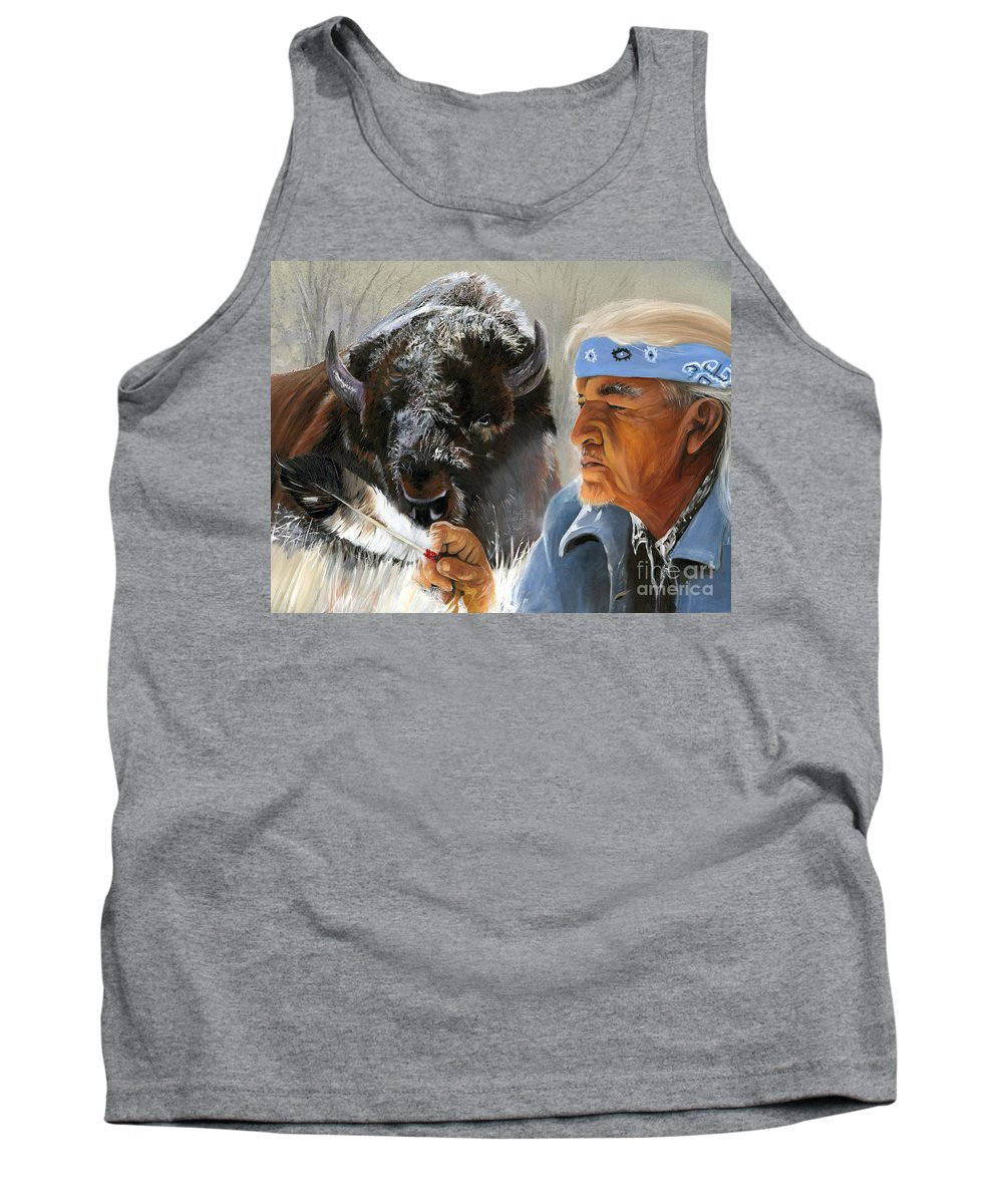 Southwest Art Tank Top featuring the painting Nothing Is Ever Forgotten by J W Baker