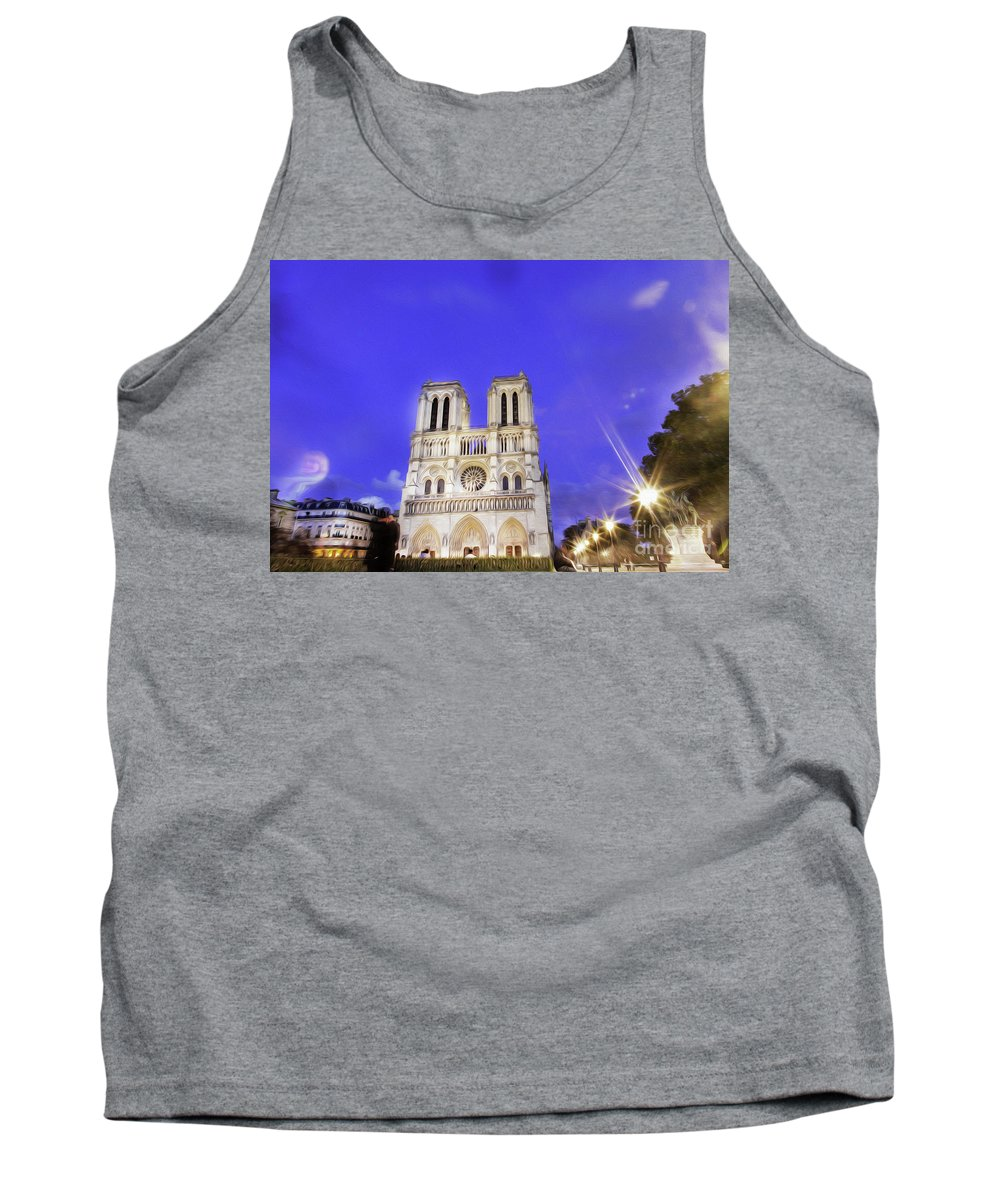 Notre Dame Cathedral Tank Top featuring the photograph Notre Dame Cathedral Paris by Alex Art and Photo