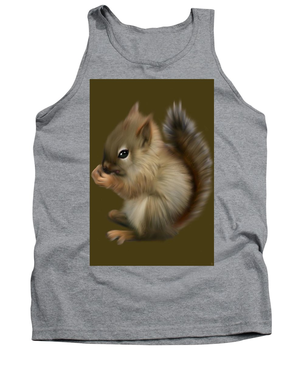 Baby Tank Top featuring the painting Nutkin by Dave H