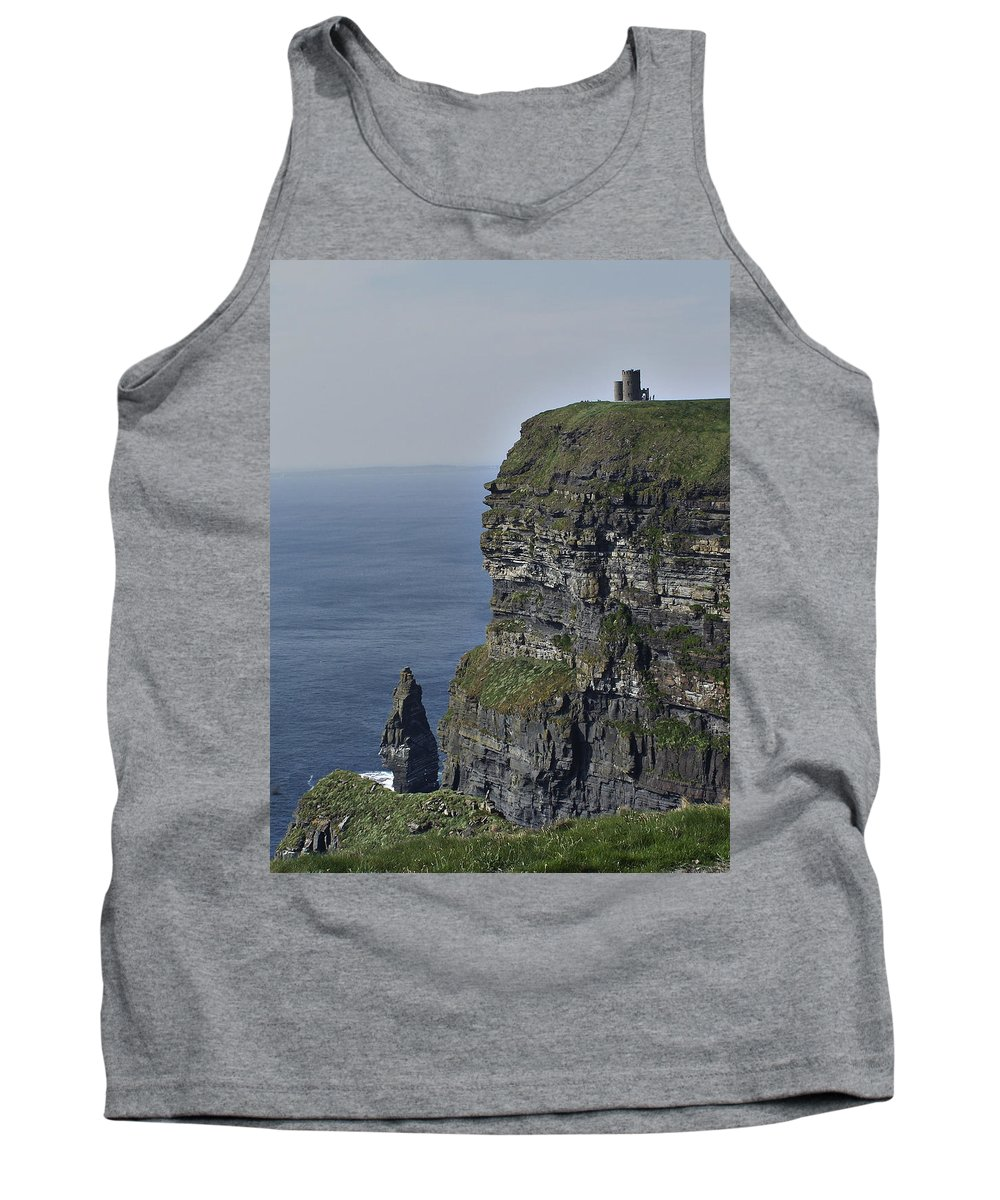Irish Tank Top featuring the photograph O Brien's Tower At The Cliffs Of Moher Ireland by Teresa Mucha