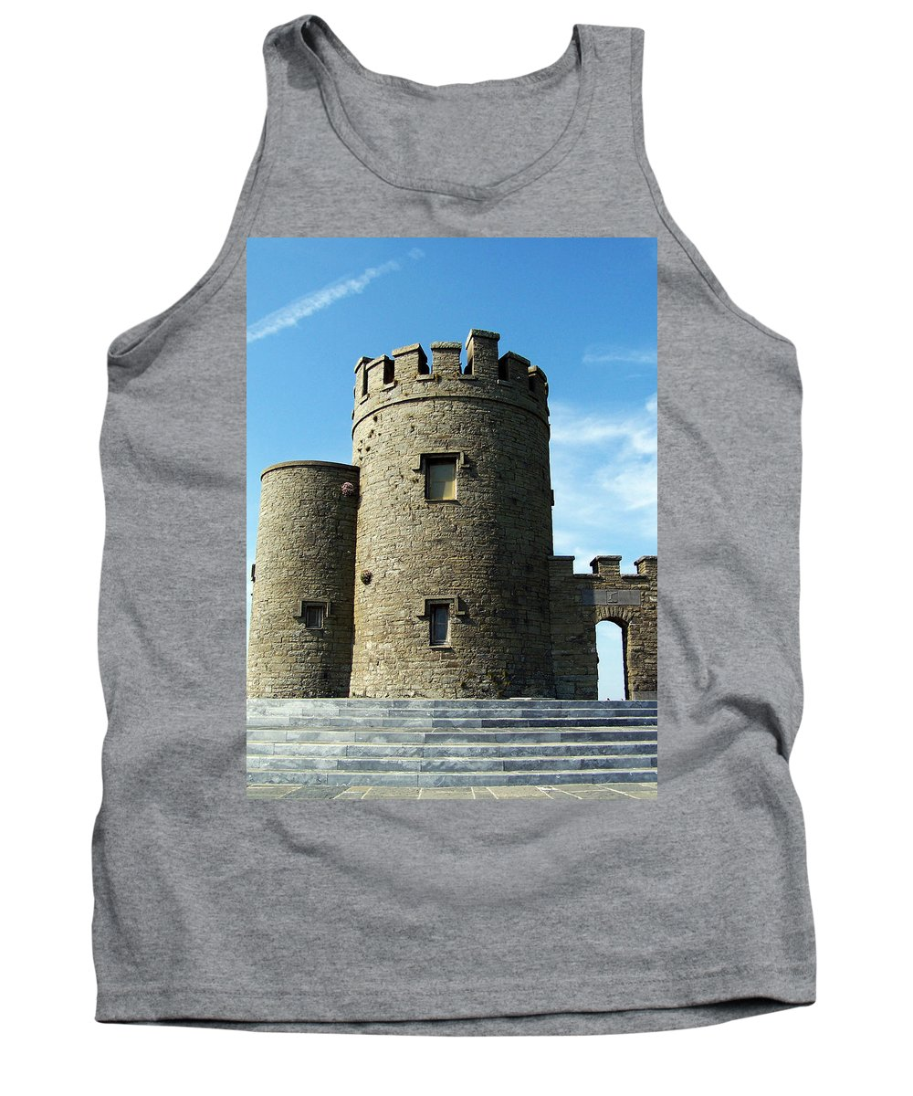 Irish Tank Top featuring the photograph O Brien's Tower Cliffs Of Moher Ireland by Teresa Mucha