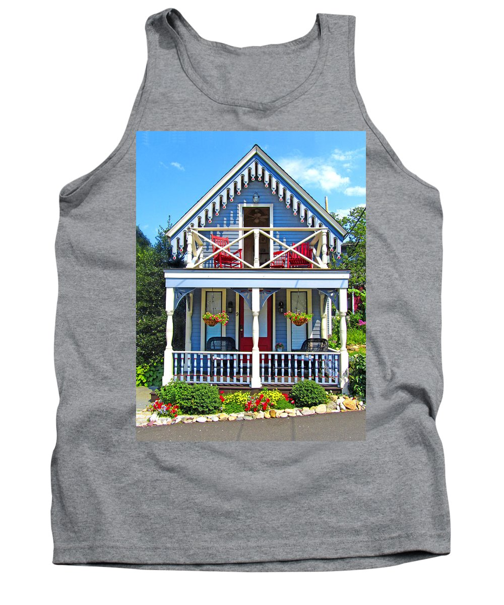 Oak Bluffs Gingerbread Cottages Tank Top featuring the photograph Oak Bluffs Gingerbread Cottages 4 by Mark Sellers