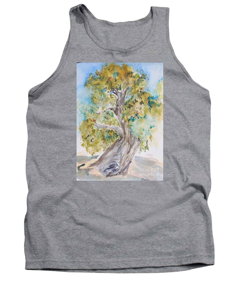 california Oaks As Art Tank Top featuring the painting Oak Of The Golden Dream by Jennifer Bentson