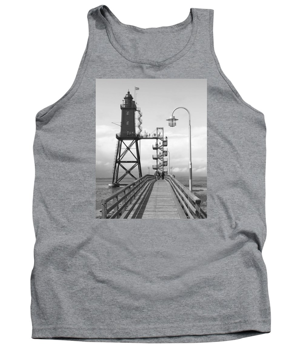 Lighthouse Tank Top featuring the photograph Obereversand Lighthouse - North Sea - Germany by Daniel Hagerman