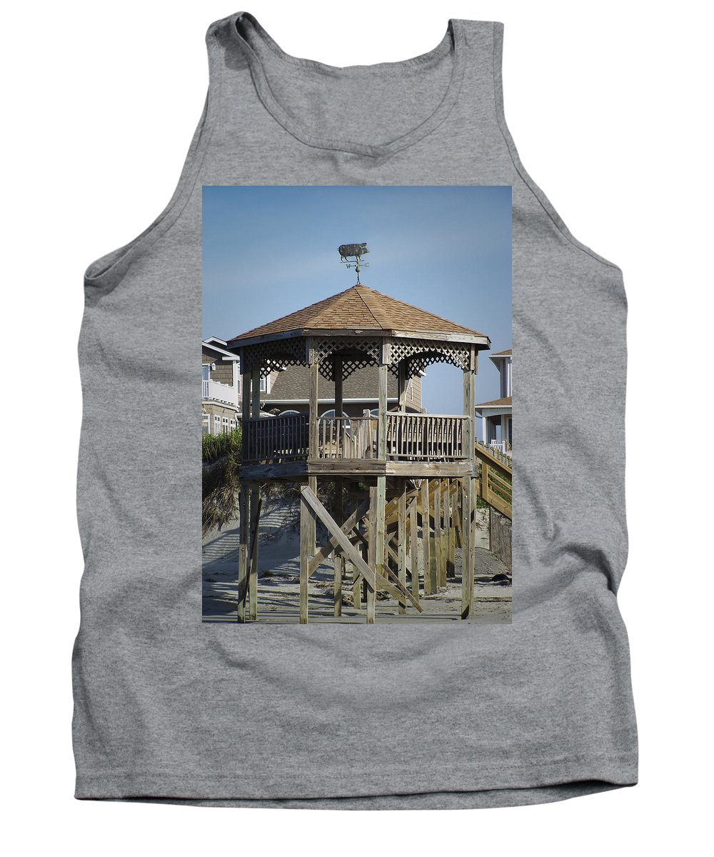Ocean Tank Top featuring the photograph Ocean Isle Pig Weathervane by Teresa Mucha