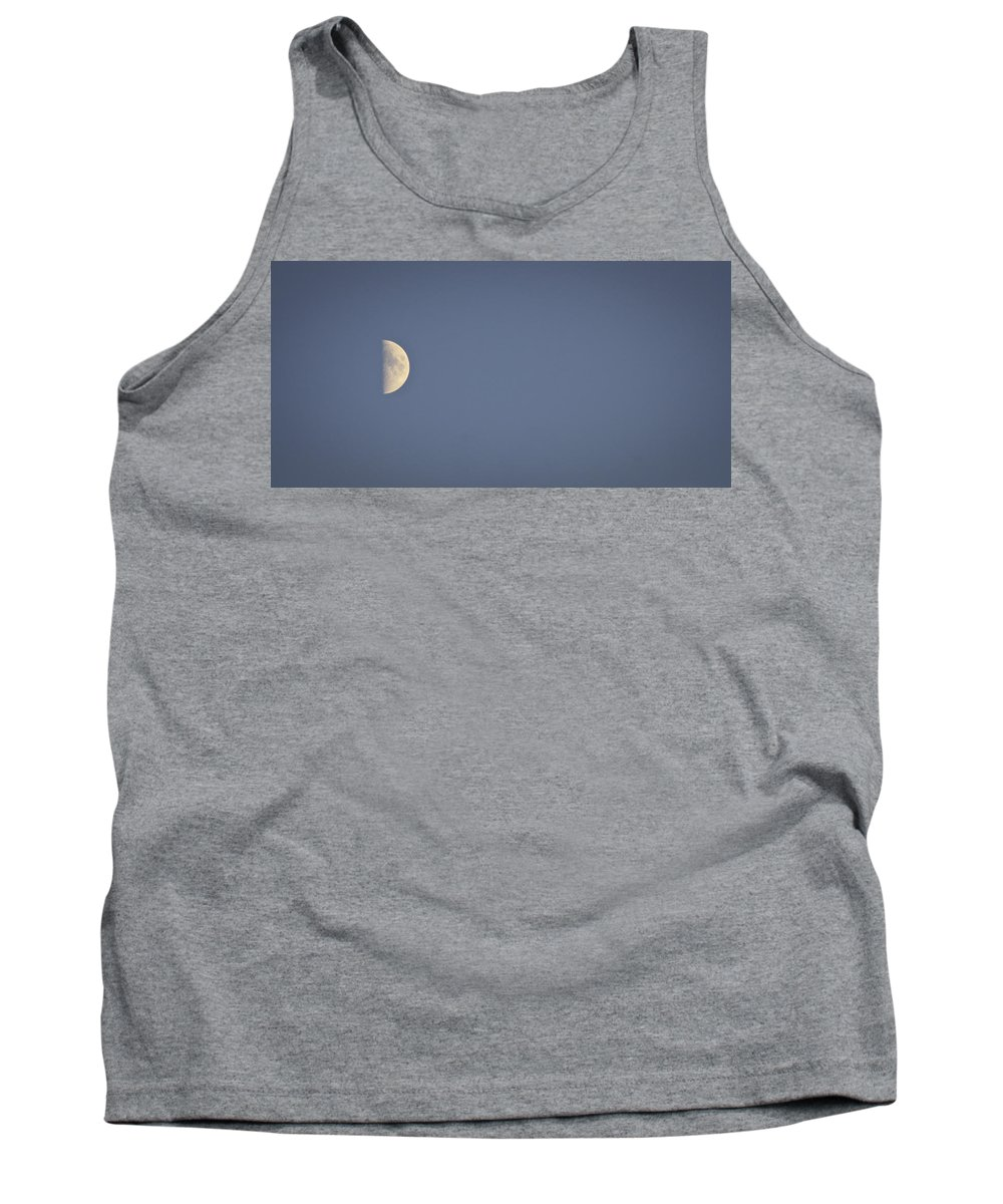 October Tank Top featuring the photograph October Half Moon by Teresa Mucha
