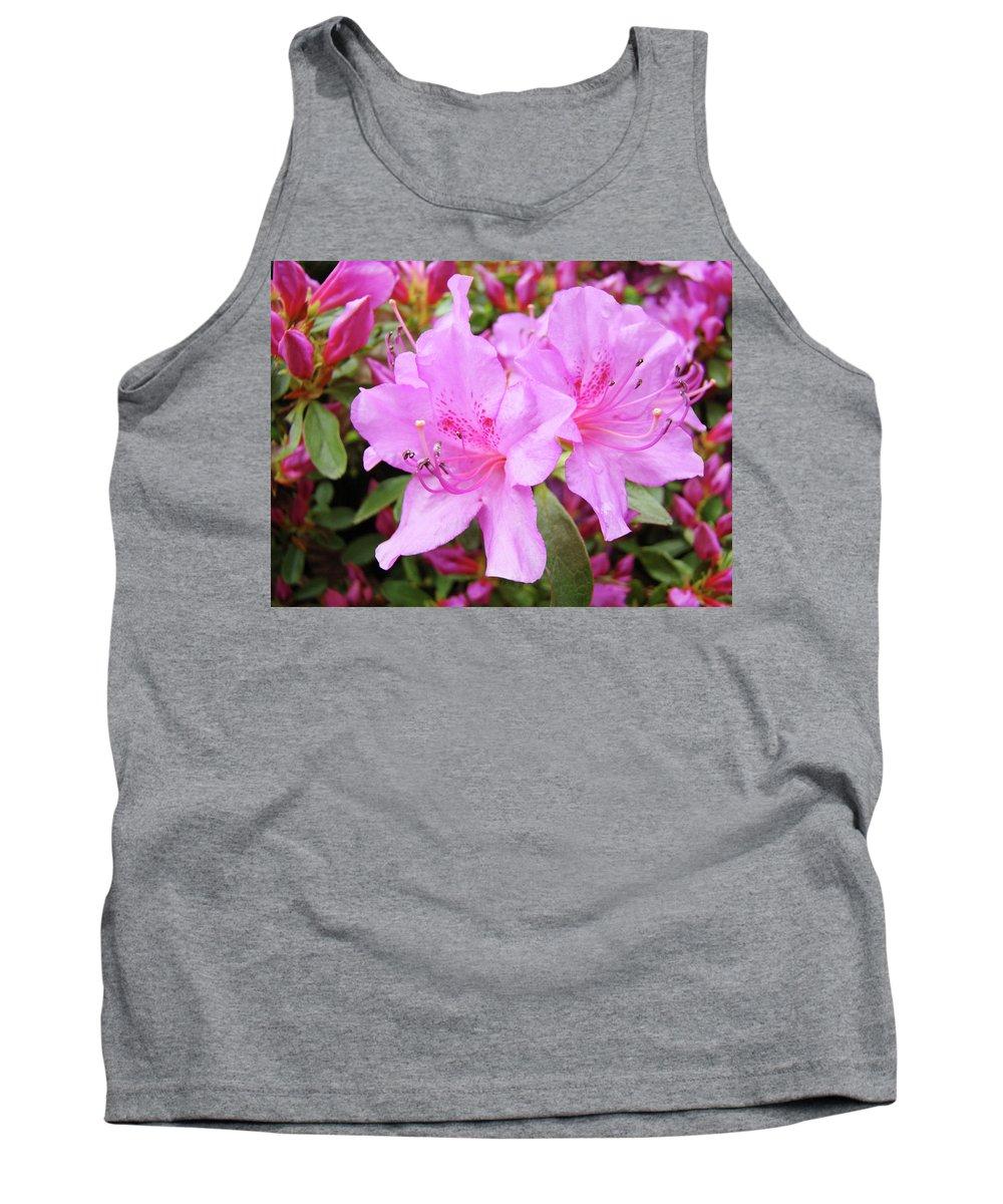 Flower Tank Top featuring the photograph Office Art Pink Azalea Flower Garden 3 Giclee Art Prints Baslee Troutman by Baslee Troutman