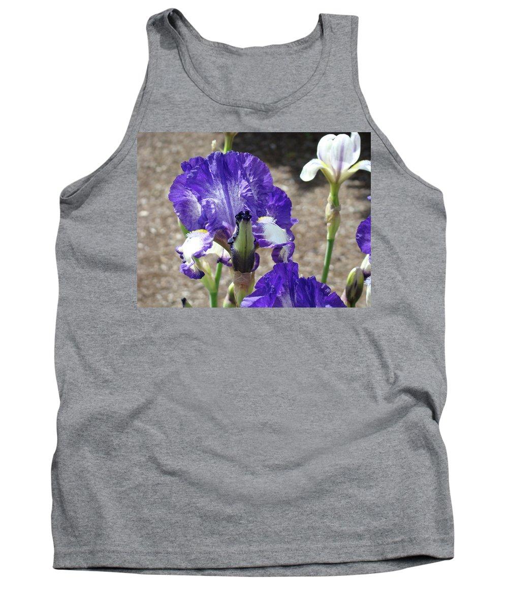 Office Tank Top featuring the photograph Office Art Prints Irises Flowers 46 Iris Flower Giclee Prints Baslee Troutman by Baslee Troutman