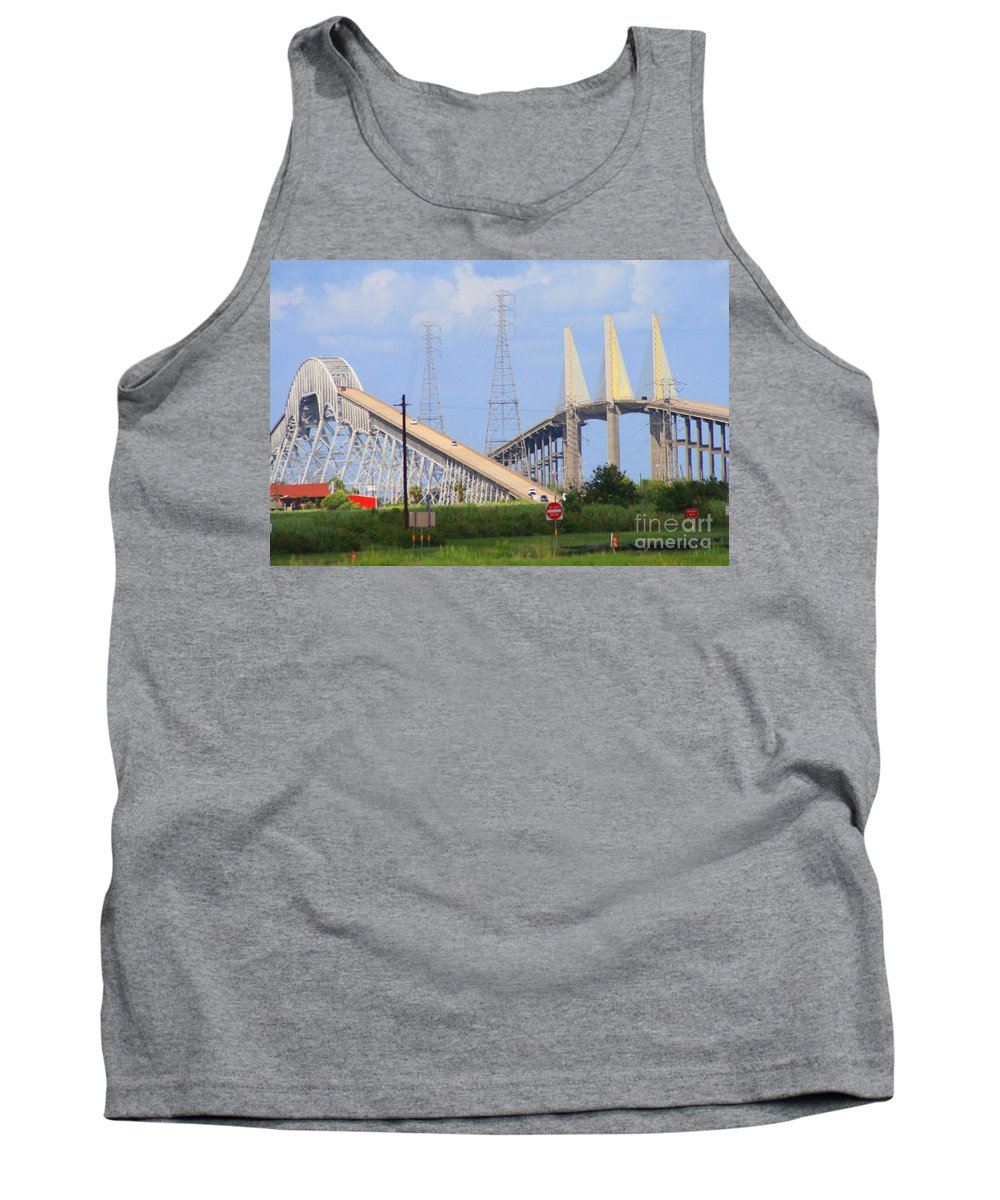 Rainbow Bridge Tank Top featuring the photograph Old And New by John W Smith III