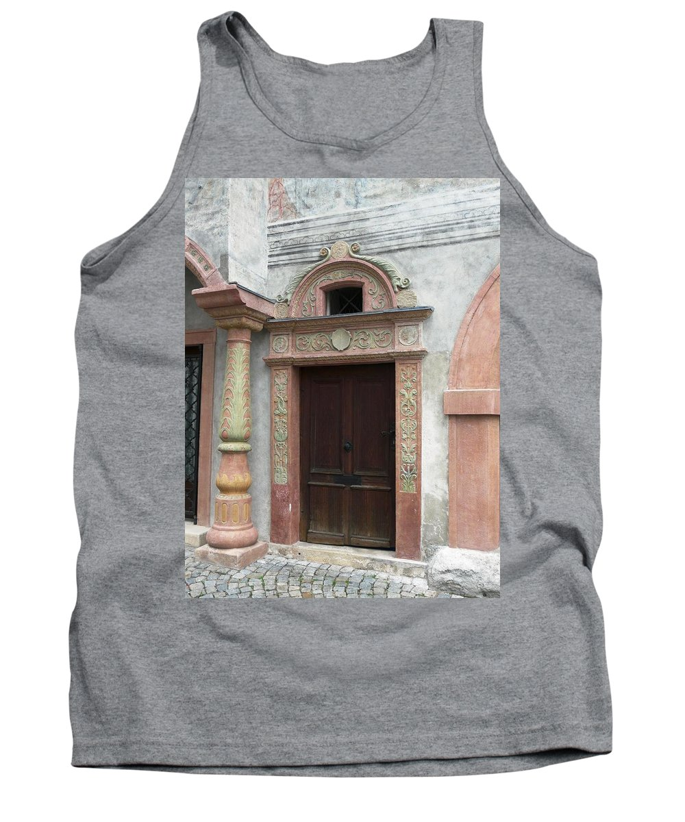 Old Tank Top featuring the photograph Old Austrian Door by Valerie Ornstein