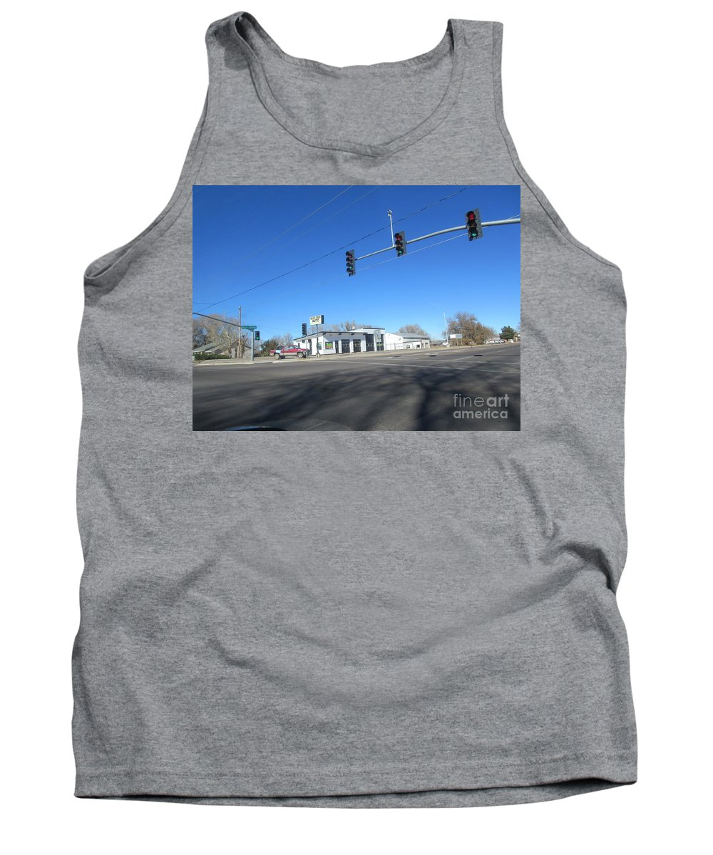 An Tank Top featuring the photograph Old Automotive Service Station by Frederick Holiday