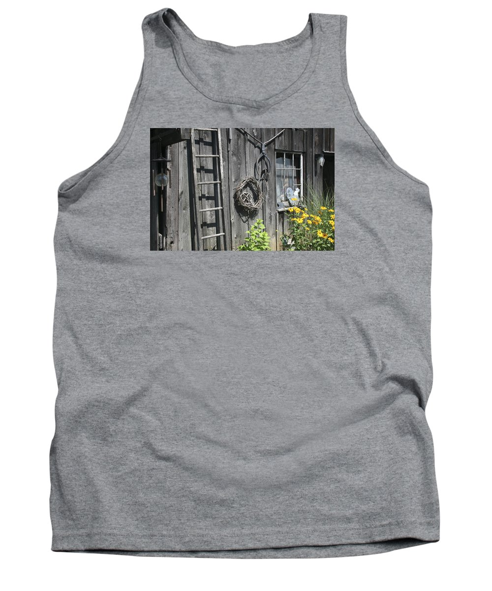 Barn Tank Top featuring the photograph Old Barn II by Margie Wildblood