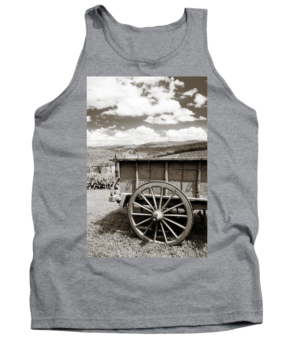 Old Country Wagon Tank Top featuring the photograph Old Country Wagon by Marilyn Hunt