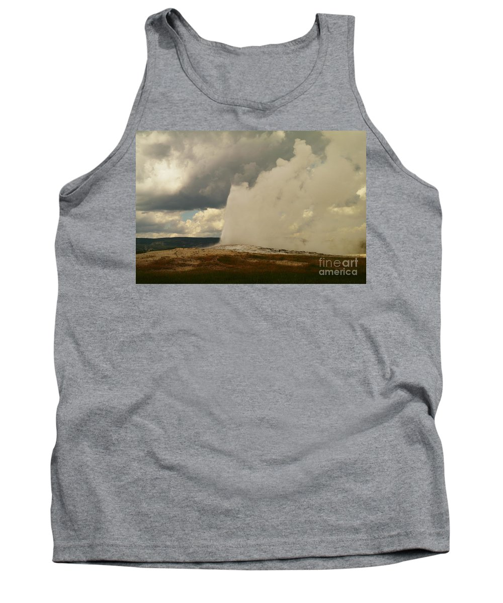 Geysers Tank Top featuring the photograph Old Faithful by Jeff Swan