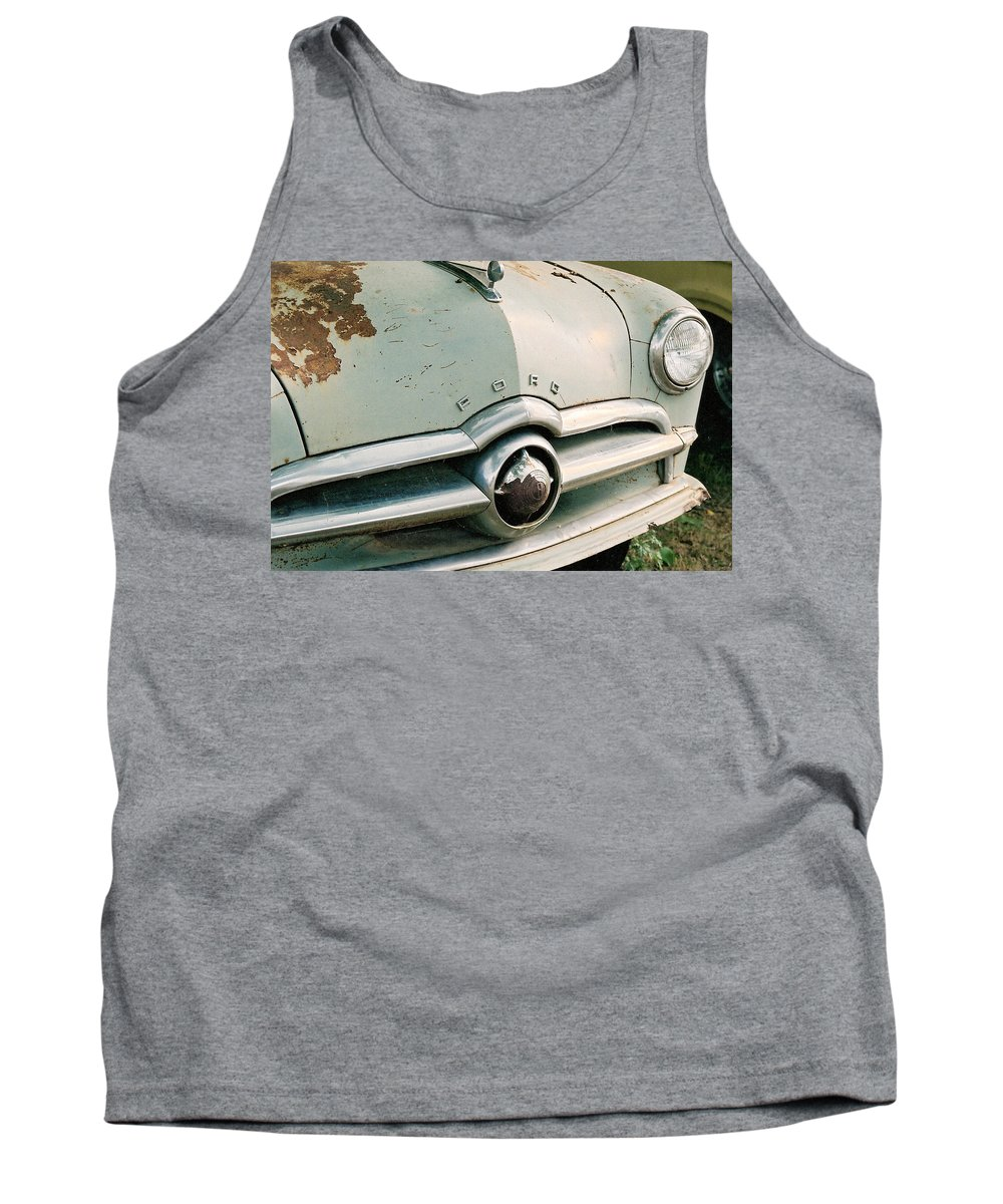 Car Tank Top featuring the photograph Old Ford by Lauri Novak