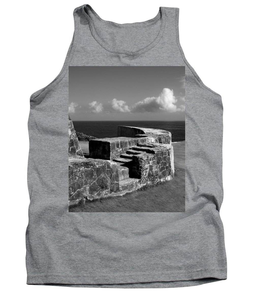Fort Tank Top featuring the photograph Old Fort Steps 2 by Perry Webster