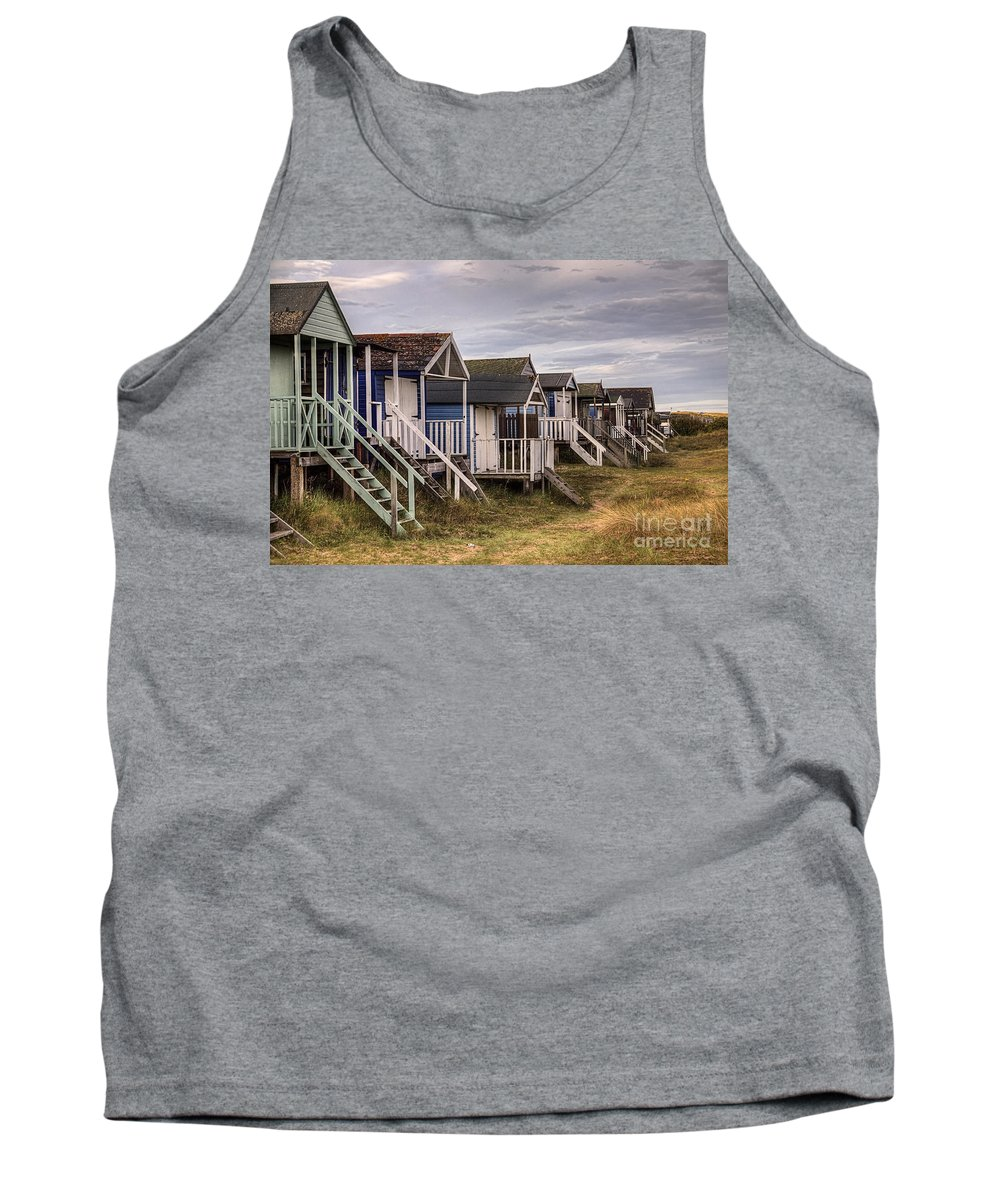 Hut Tank Top featuring the photograph Beach Huts At Old Hunstanton by John Edwards