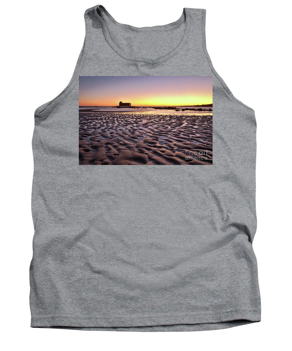 Fuzeta Tank Top featuring the photograph Old Lifesavers Building Covered By Warm Sunset Light by Angelo DeVal