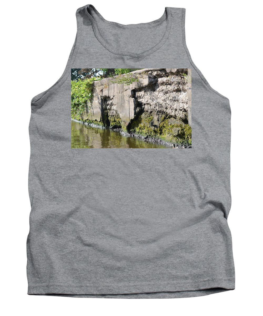 Rock Island Arsenal Tank Top featuring the photograph Old Lock And Dam by Tammy Mutka