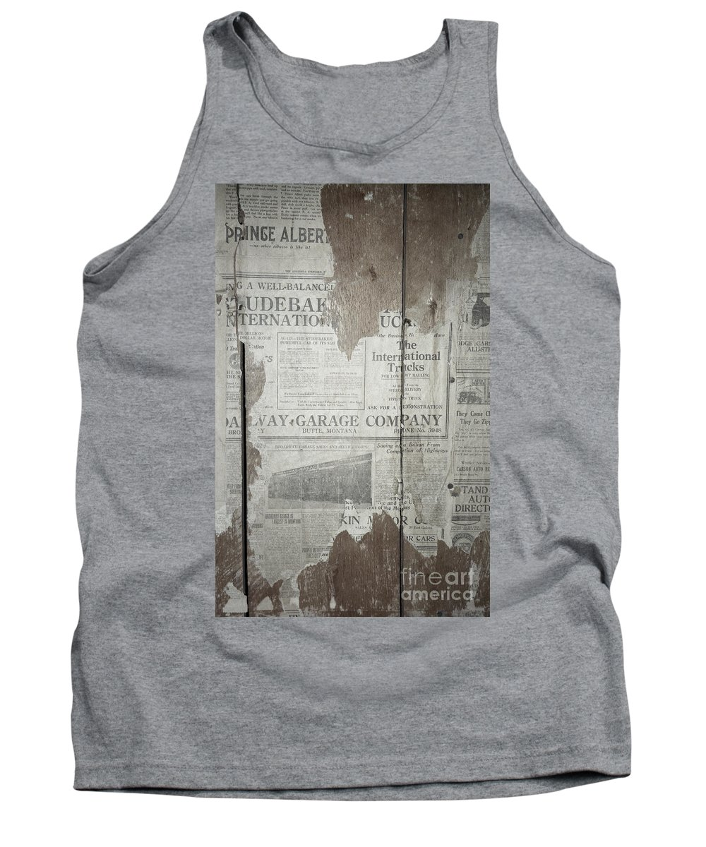 Newspapers Tank Top featuring the photograph Old News by Richard Rizzo