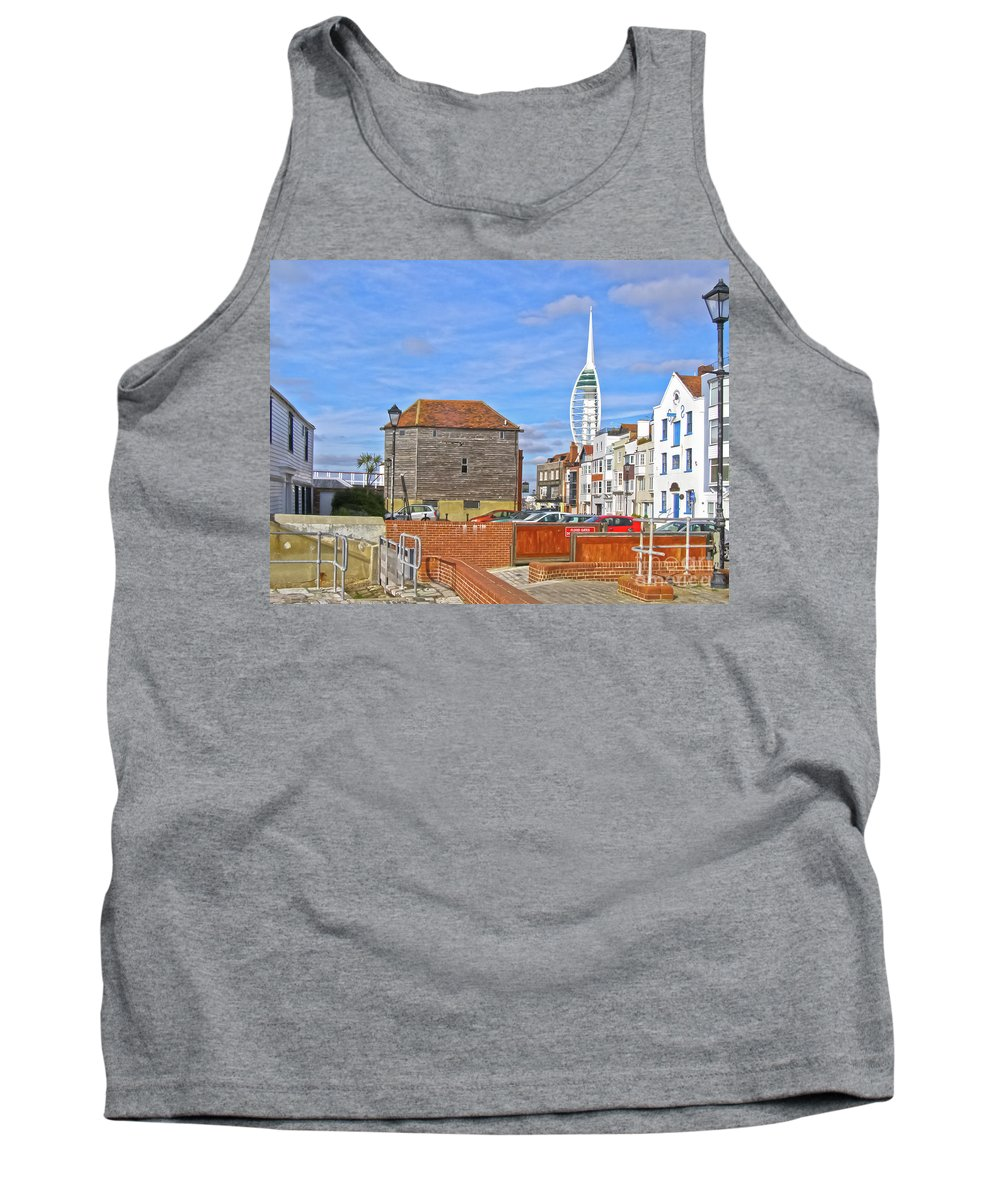 Old Portsmouth Tank Top featuring the photograph Old Portsmouth Flood Gates by Terri Waters