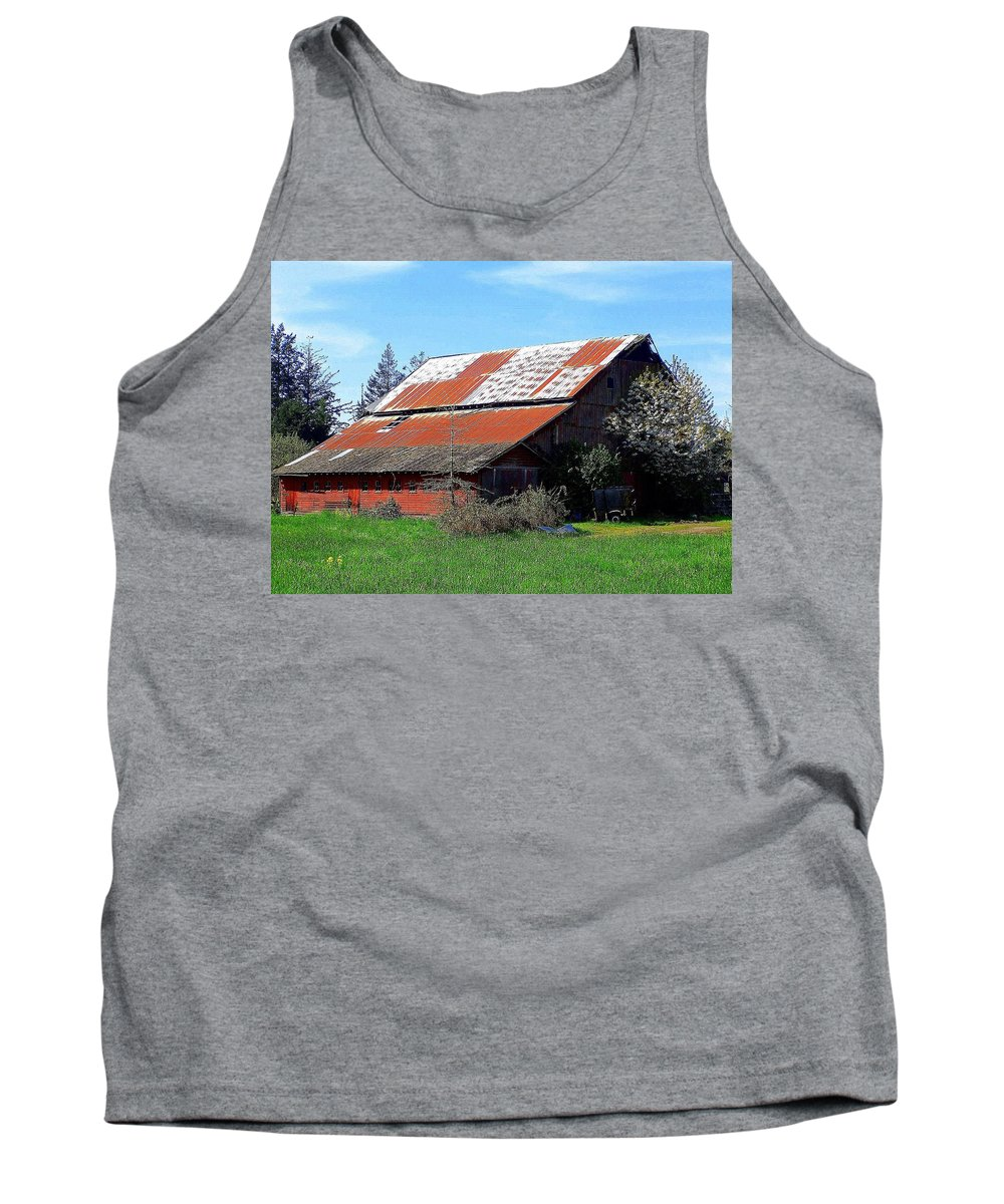 Barn Tank Top featuring the photograph Old Red Photograph by Kimberly Walker