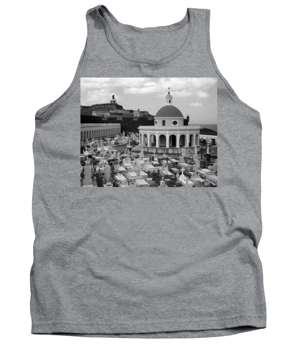 San Juan Tank Top featuring the photograph Old Spanish Graveyard by Perry Webster