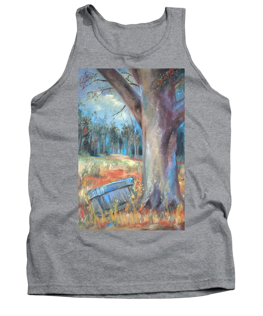 Country Scenes Tank Top featuring the painting Old Times by Ginger Concepcion
